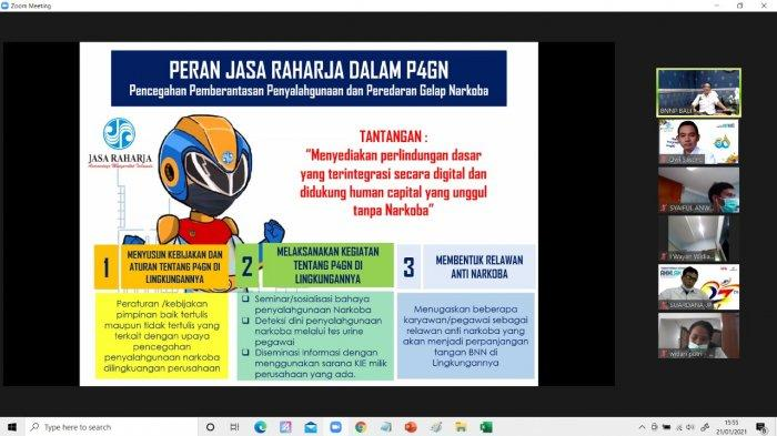 Jasa Raharja dan BNNP Bali Sosialisasi Pencegahan dan Bahaya Penyalahgunaan Narkoba