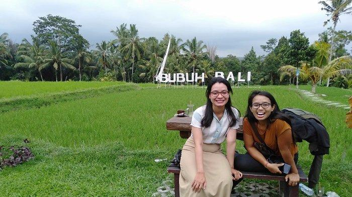 Wahana Selfie di Bubuh Bali Pak Item Tegalalang