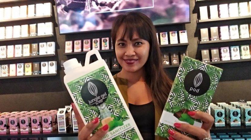 Kreasi di Tengah Pandemi Corona, Inda Trimafo Buat Hand Sanitizer Dari Cokelat