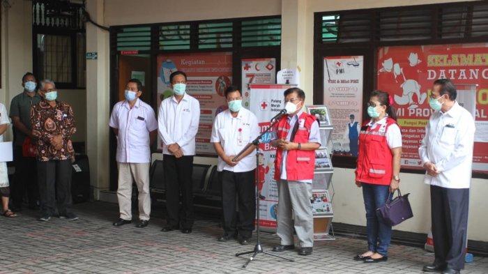 Jusuf Kalla Inspeksi PMI Bali dalam Rangka Respon Pencegahan Penyebaran Covid-19