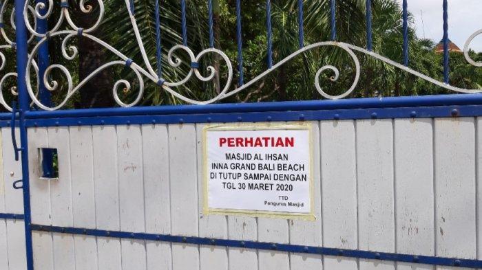Dampak Corona, Ini Daftar Masjid dan Musholla Tiadakan Sholat Berjamaah di Denpasar Selatan