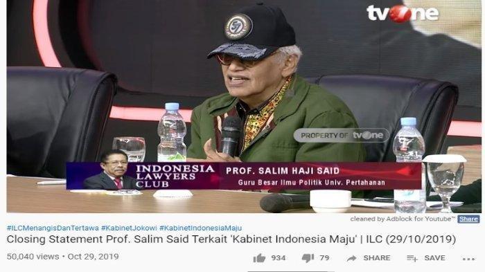 Tidak Main-main, Salim Said Prediksikan Jokowi Akan Reshuffle Kabinet Indonesia Maju