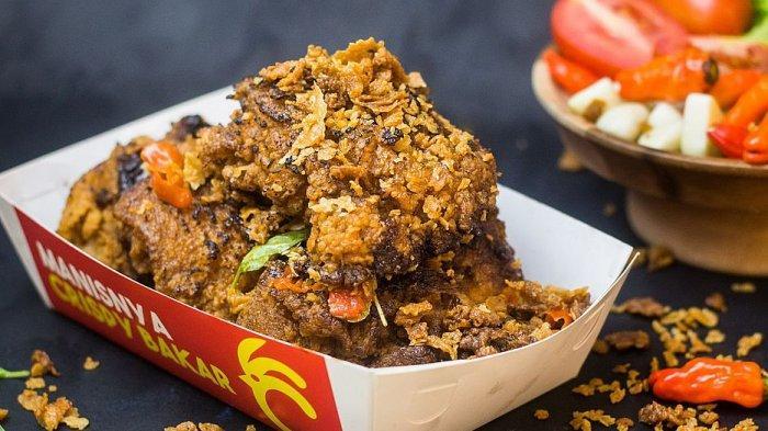 Sajian ayam crisbar yang dimasak dengan cara dibakar