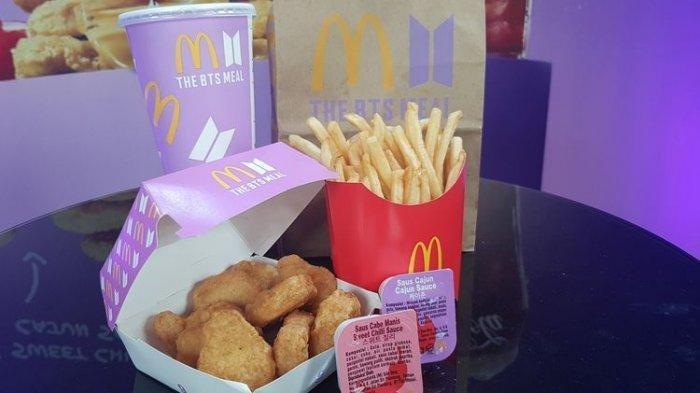 menu BTS Meal Mc Donald's