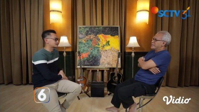 Lukisan karya Iwan Fals yang berhasil terlelang dengan harga Rp 500 juta