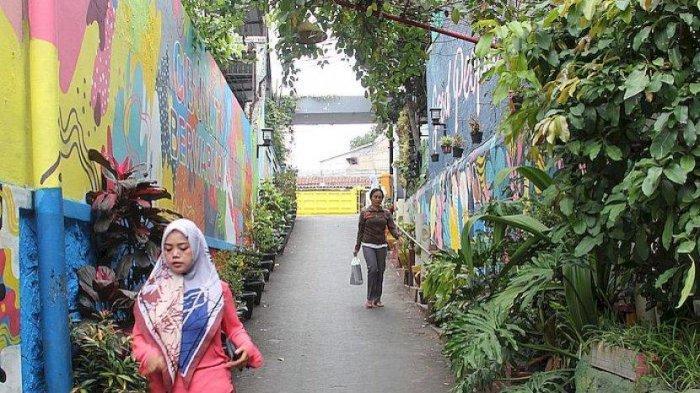Suasana Kampung Cibunut di Kebon Pisang, Kota Bandung
