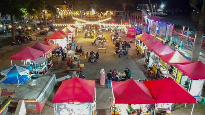 Kawasan wisata kuliner di sarana olahraga Kerkhof, Garut