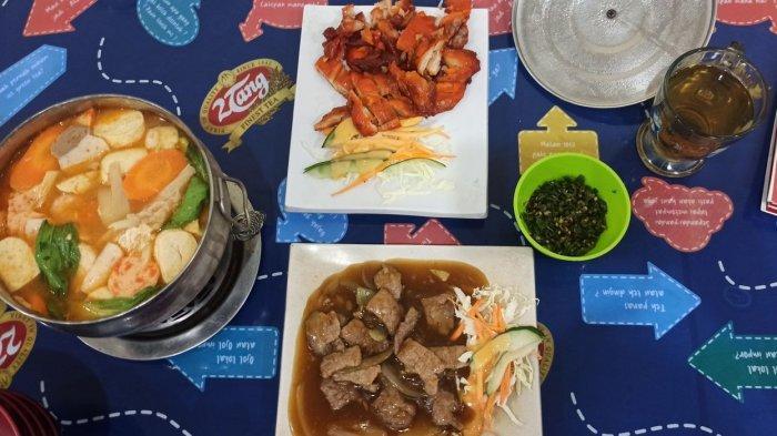 Aneka menu makanan di Kobe Tepanyaki Jakan Cibadak, Bandung