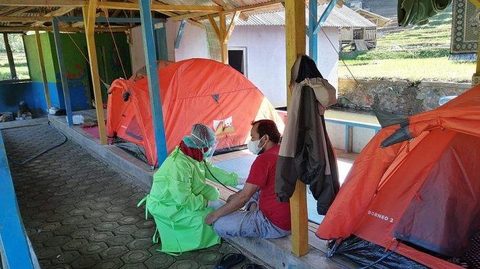 Lokasi isoman di Desa Bentar Peundeuy Kecamatan Banjarwangi  Kabupaten Garut,