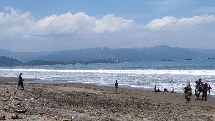 Pantai Citepus Sukabumi kembali Sepi, Pedagang Mengeluh Berharap Ramai Kembali
