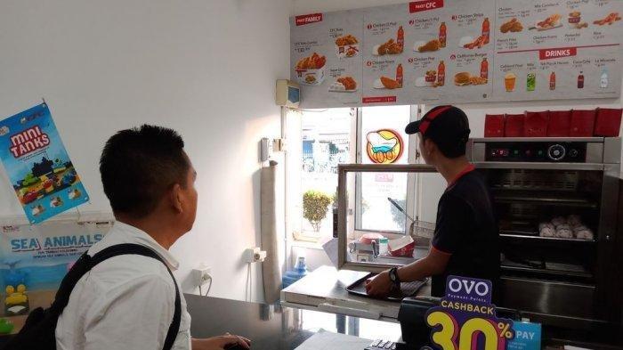 Foto ilustrasi restoran cepat saji di Stasiun Ajibarang, Indramayu