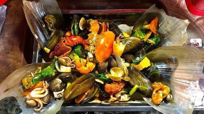 Aneka hidangan seafood di Seafood Kiloan Bang Bopak