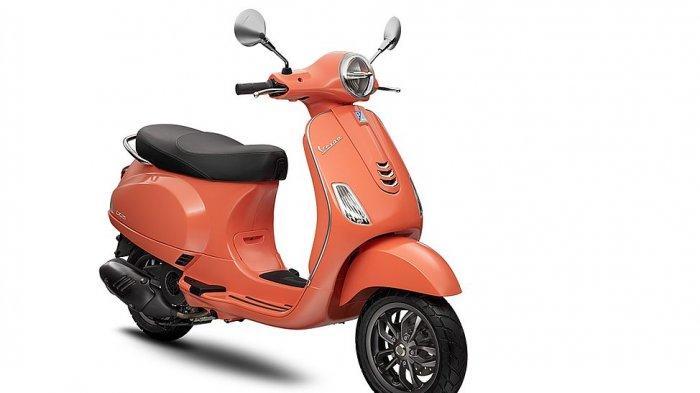 Vespa LX warna orange corello