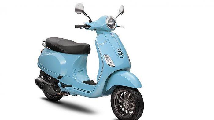 Vespa LX warna blue capri