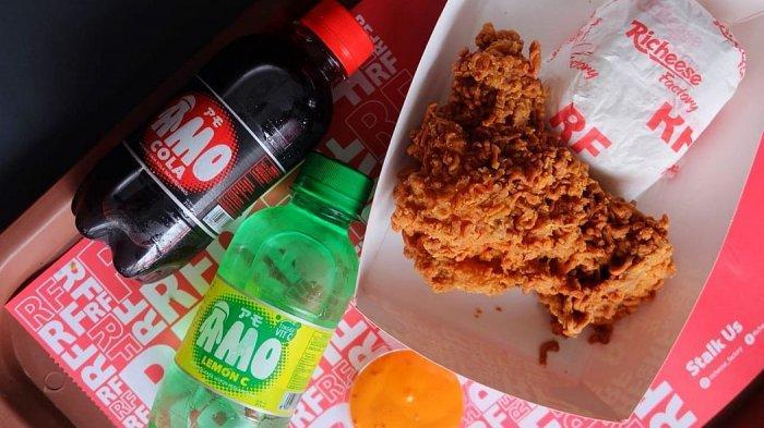 Lezatnya Volcano Ramen Chicken di Richeese Factory, Tambah Asyik Sambil Minum Amo Softdrink