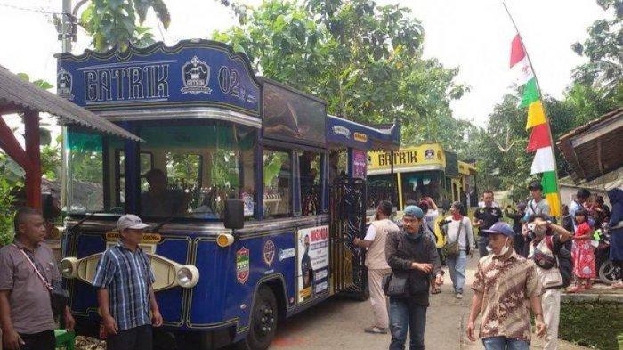 Warga Ciamis Bisa Ngabuburit di Bulan Ramadan dengan Naik Bus Gatrik  Keliling Tempat Bersejarah