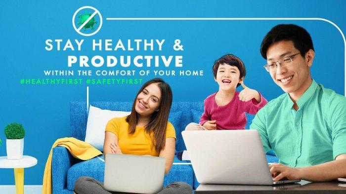 Tetap Aktif dan Produktif di Rumah, First Media Jalankan Kampanye #HealthyFirst #SafetyFirst