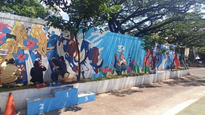 Mural Cantik Kini Menghiasai Taman Saparua Kota Bandung, Makin Asyik Beraktivitas