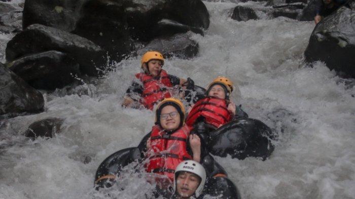 River Tubing Cikadongdong dan Terasering Panyaweuyan Majalengka Masih Belum Ramai Didatangi Turis