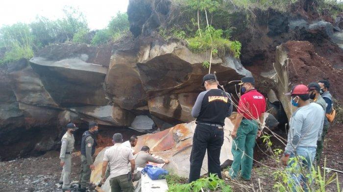 Lokasi Penambangan Batu di Objek Wisata Sukageuri View Disegel Satpol PP Kuningan