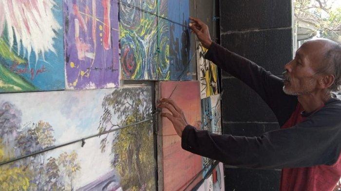 Lukisan di Jalan Braga yang dijual Ade Rahmat