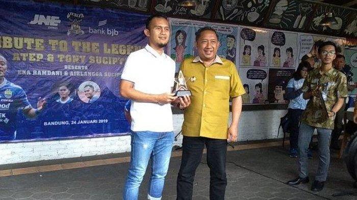 Airlangga Sucipto (kiri) bersama Wakil Wali Kota Bandung, Yana Mulyana