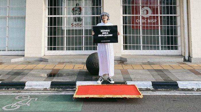 Dengan Kostum Aladin dan Karpet Terbang, Fadli Maulana Menginspirasi untuk Berbagi Donasi