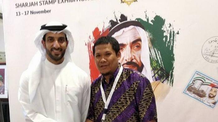 Gita Noviandi berfoto bersama Putra Mahkota Kerajaan Sharjah, Uni Emirat Arab 2018