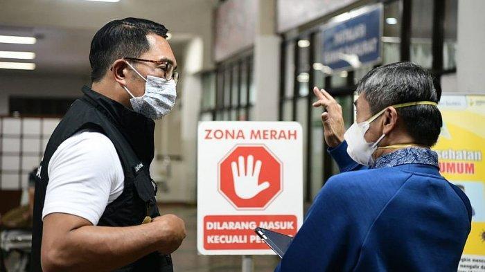 Aktivitas Ridwan Kamil meninjau tenaga kesehatan di tengah pandemi
