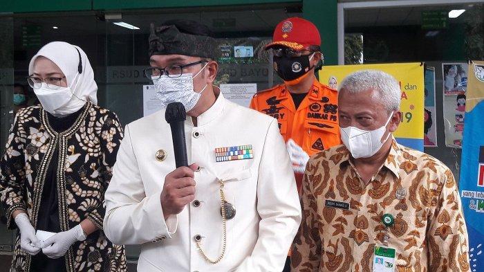 Gubernur Jawa Barat Ridwan Kamil saat Meninjau RSUD Bayu Asih Purwakarta, Kamis (24/6/2021).