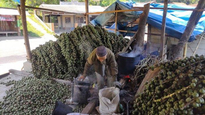 sentra kolang kaling di Desa Girimulya, Kecamatan Banjaran, Kabupaten Majalengka