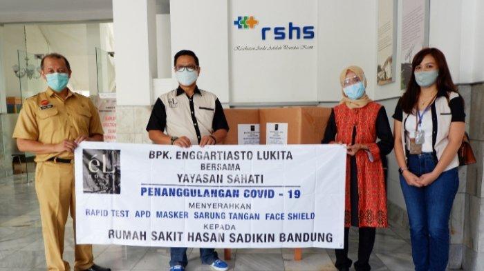 Mantan Mendag Kirim Bantuan Alat Kesehatan ke RSHS Bandung dan Rumah Sakit Umum Bungsu Bandung