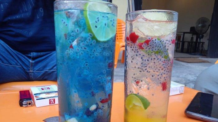 Minuman dingin yang diual di Legenda Park.