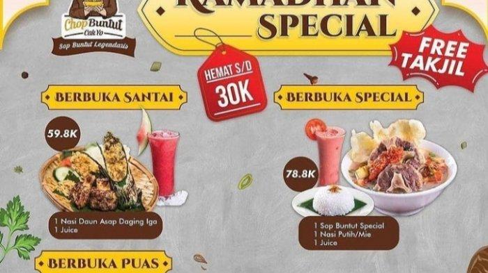Chop Buntut Jambi Tawarkan Paket Promo Menarik Untuk Berbuka Puasa, Free Takjil Lho!