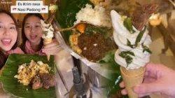 Sedang Viral, Kakak Beradik Ini Buat Es Krim dari Bahan Nasi Padang, Pernah Buat Es Krim Samyang