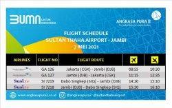 Hari Pertama Larangan Mudik, Bandara Jambi Sepi, Garuda Indonesia Masih Layani Jadwal Penerbangan