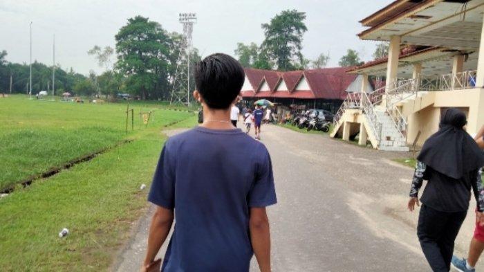 Olahraga di Akhir Pekan di Eks Arena MTQ, Cara Masyarakat Kota Jambi Cegah Pandemi Covid-19