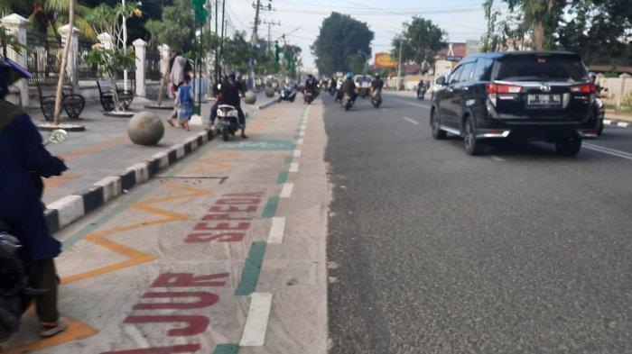 Pedestrian Sipin Tempat Kongkow & Ngabuburit Kekinian di Kota Jambi, Jangan Lupa Pakai Masker