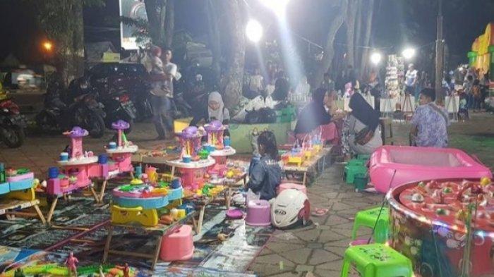 Rekreasi dan Edukasi Anak Dengan Menggambar, Taman Remaja Kota Jambi Selalu Ramai di Akhir Pekan
