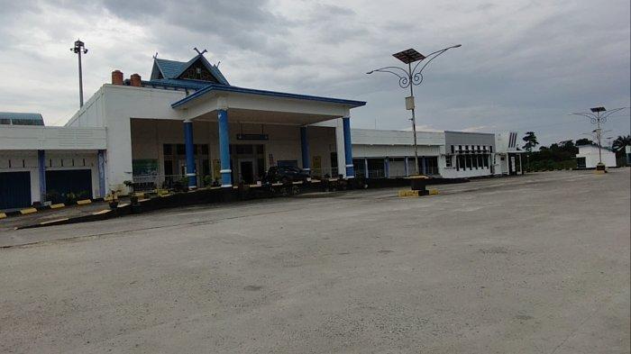 Larangan Mudik 2021, Sejumlah Terminal Bus di Jambi Terlihat Hening, Tak Ada Aktifitas