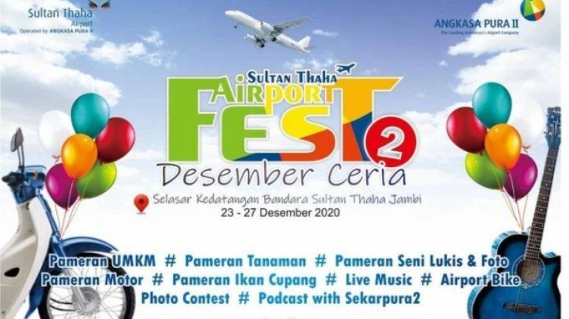 Desember Ceria, Bandara Sultan Thaha Gelar Festival, Banyak Acara Menarik Lho!