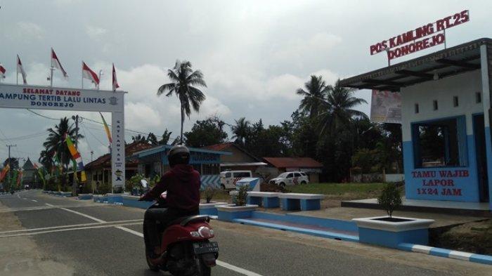 Kawasan Jalan Donorejo, Kelurahan Pasir Putih kecamatan Jambi Selatan, Kota Jambi didesain nuansa lalu lintas dan sedikit simbol yang membuatnya rapih.