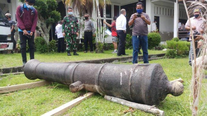 Meriam Peninggalan Belanda Seberat 875 Kg, Kini Ada di Museum Perjuangan Rakyat Jambi