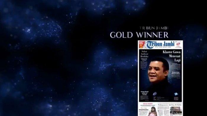 Luar Biasa! Tribun Jambi Raih Gold Winner IPMA 2021 pada Ajang Awarding SPS Indonesia