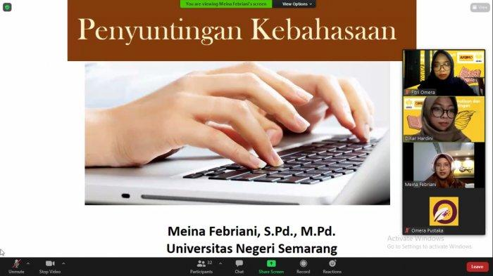 Universitas Negeri Semarang (UNNES) dan Omera Pustaka selenggarakan Pelatihan Penulisan danPenyuntingan Buku Nonfiksi Kamis-Sabtu (22-24/7/2021).