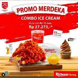 Promo Merdeka Richeese Factory Mulai Rp 27.273 dan Bisa Menambah Menu Fire Burst Hingga Ice Cream