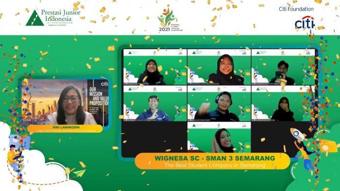 SMA Negeri 3 Semarang Dilatih Citi Indonesia dan Prestasi Junior Indonesia Sebagai Pengusaha Muda