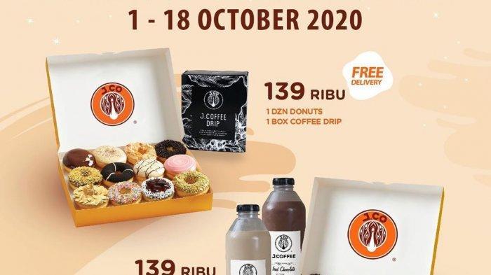 J.Co Promo Marvelous October, Harga Spesial 1 Lusin Donat dan 1 Liter J.Coffee Hanya Rp 139 Ribu