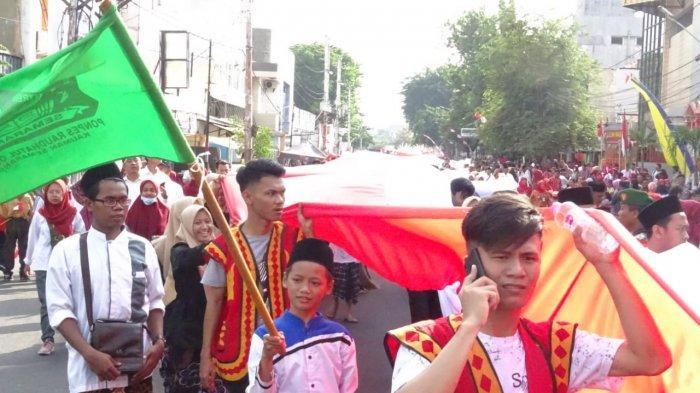 Kirab Kebangsaan Merah-Putih dari Jalan Depok-Lapangan Simpanglima Semarang, Diikuti 10 Ribu Orang