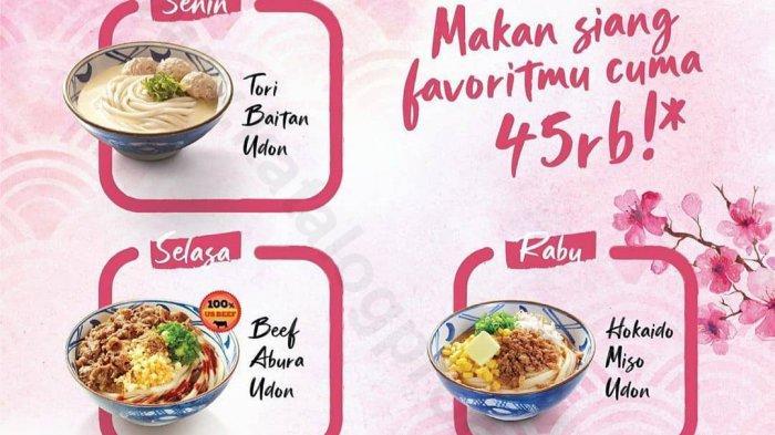 Marugame Udon Promo Makan Siang Hemat Hanya Rp 45 Ribu Bisa Pesan Via Gofood, Atau Grabfood